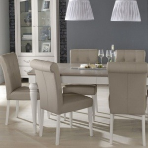 Bentley Designs Montreux Grey Washed Oak & Soft Grey Dining