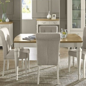 Bentley Designs Montreux Pale Oak & Antique White Dining