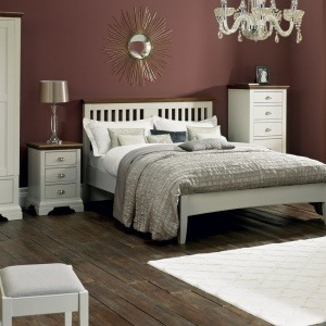Bentley Designs Hampstead Soft Grey & Walnut Bedroom