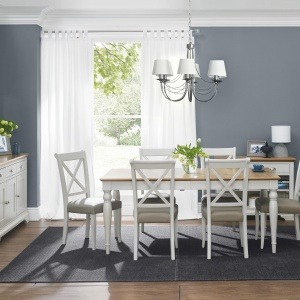 Bentley Designs Hampstead Soft Grey & Pale Oak Dining