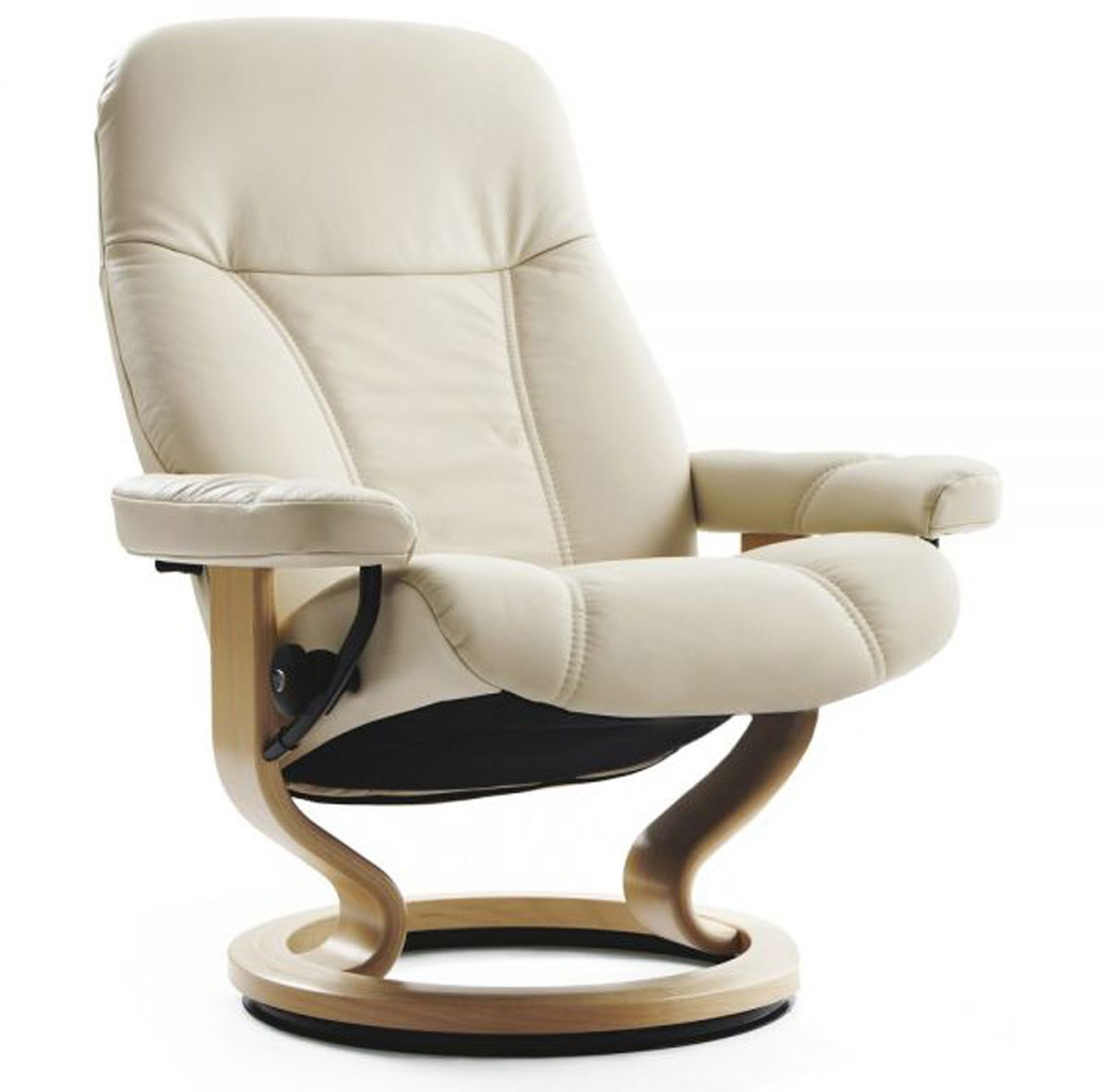 Stressless Consul Medium Chair With Classic Base No Stool