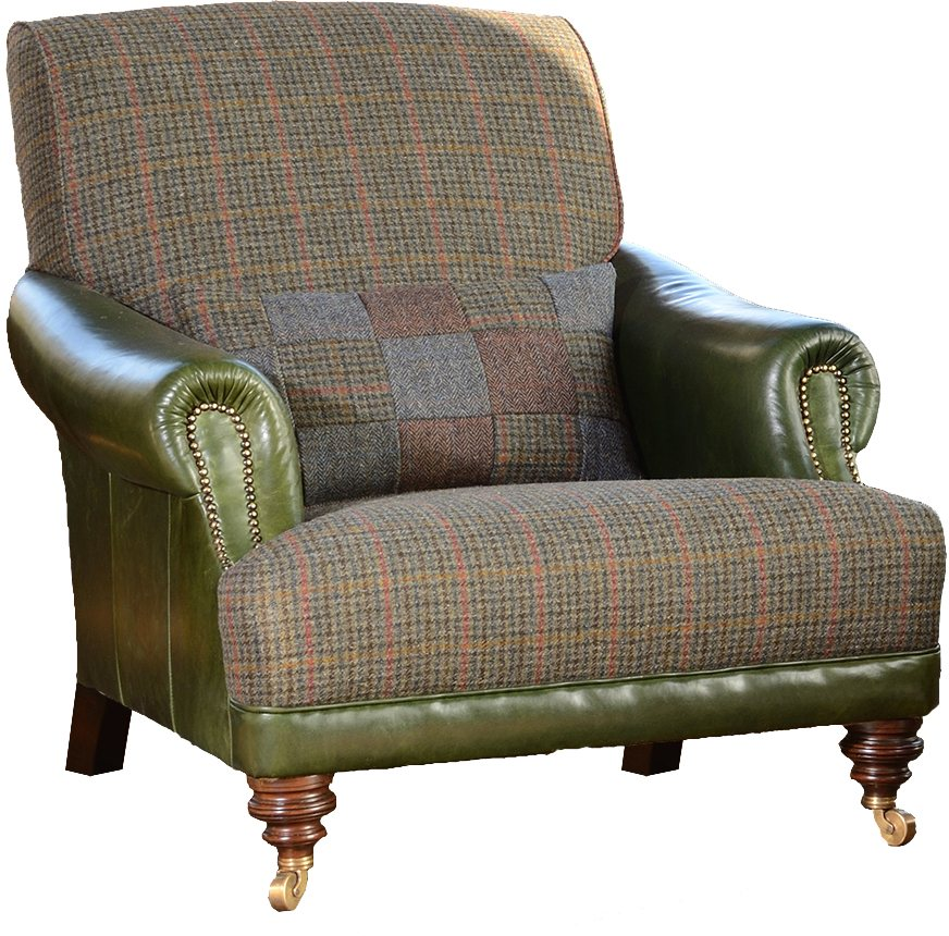 Tetrad Harris Tweed Taransay Gents Chair Brentham Furniture