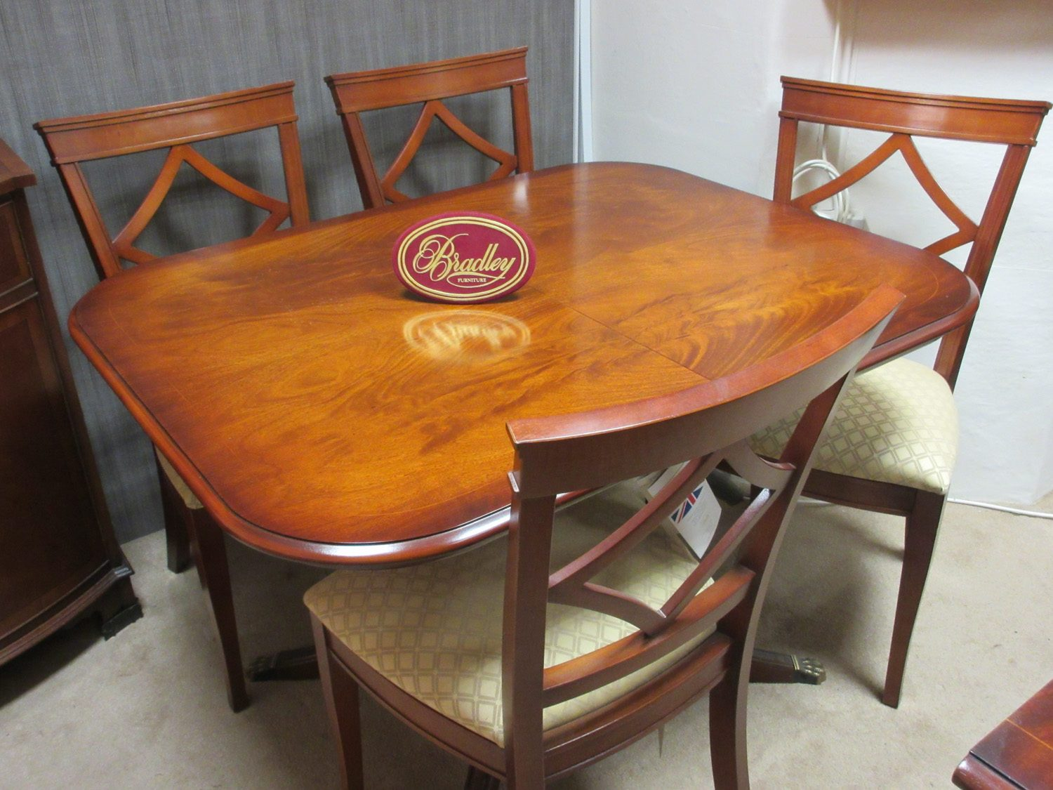 Bradley Furniture Mahogany Dining Table 4 Chairs Clearance Brentham Furniture