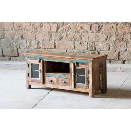 Little Tree Furniture Mary Rose Reclaimed 2 door 2 Drawer TV Unit