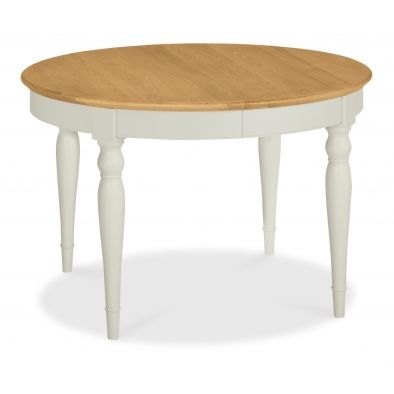 Bentley Designs Hampstead Soft Grey & Pale Oak 4-6 Extension Table