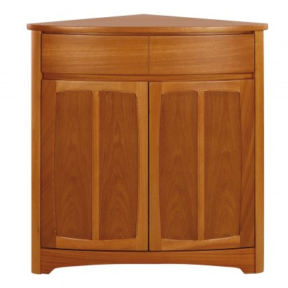 Nathan 1914 Shades Teak Shaped Corner Case Unit