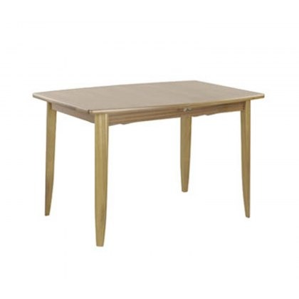 Nathan 2155 Shades Oak Small Boat Shaped Dining Table on Legs