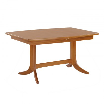 Nathan 2144 Teak Small Boat Shaped Pedestal Dining Table
