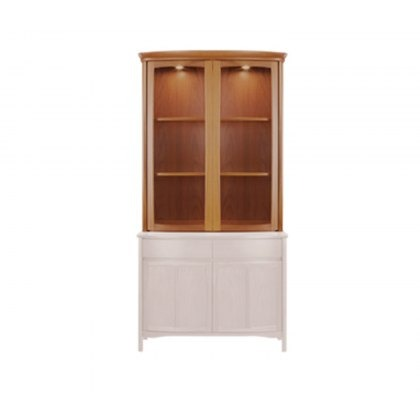 Nathan 4044 Shades Teak Shaped 2 Door Display Top Unit