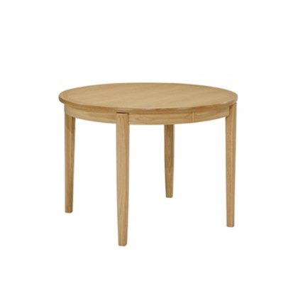 Nathan 2135 Shades Oak Circular Dining Table on Legs