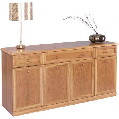 Sutcliffe Trafalgar 863B 4 Door 3 Drawer Canted Top Sideboard