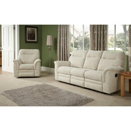 Parker Knoll Hudson 3 Seater Sofa Manual Double Recliner