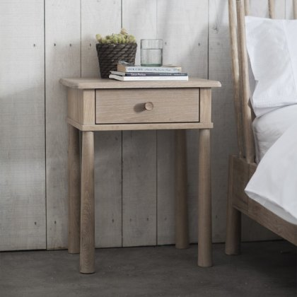 Gallery Frank Hudson Wycombe 1 Drawer Bedside Table