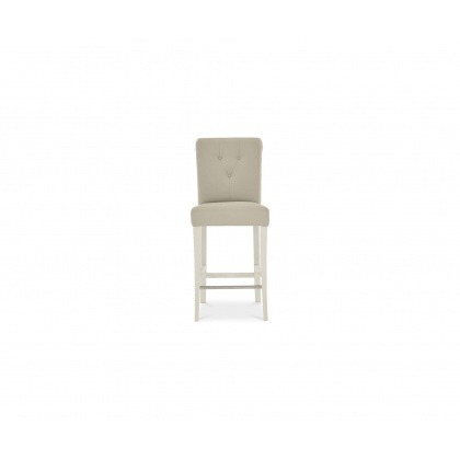 Bentley Designs Montreux Pale Oak & Antique White Upholstered Bar Stool (Pair) Bonded Leather