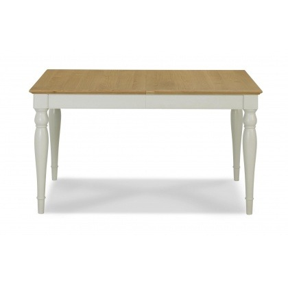 Bentley Designs Hampstead Soft Grey & Pale Oak 4-6 Extension Table - Rectangular