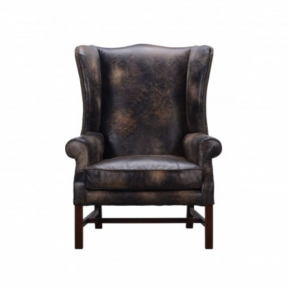 Halo Daddy Downing Chair In Galata Ebony Leather