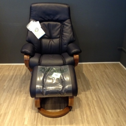 Himolla Kennet Recliner and Stool - Bargain Clearance!