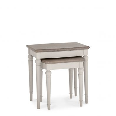 Bentley Designs Montreux Grey Washed Oak & Soft Grey Nest of Lamp Tables
