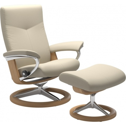 Stressless Dover Signature Chair & Stool - Express Delivery