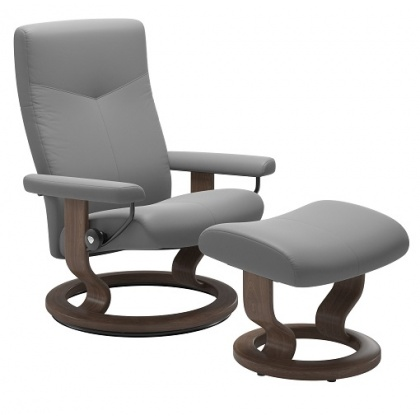 Stressless Dover Medium Chair & Stool - Classic Base