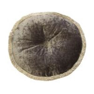 Mulberry Circular Pleated Cushion with frilled edge