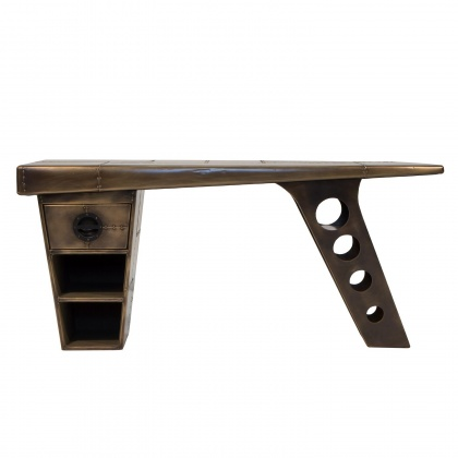 Aviator Half Wing Desk - Vintage Jet Brass