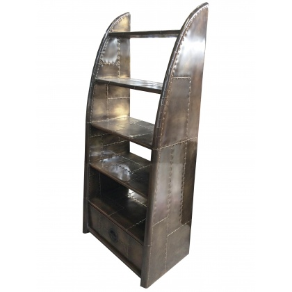 Aviator Wing Bookcase - Vintage Jet Brass