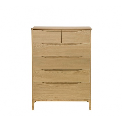 Ercol Rimini 3284 6 Drawer Tall Wide Chest