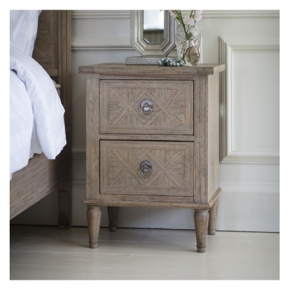 Frank Hudson Mustique 2 Drawer Bedside Table
