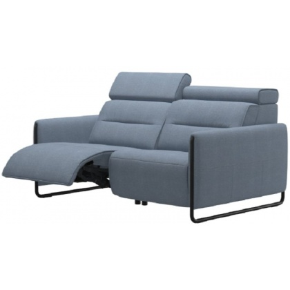 Stressless Emily Powered Left 2 Seater Sofa With Steel Legs