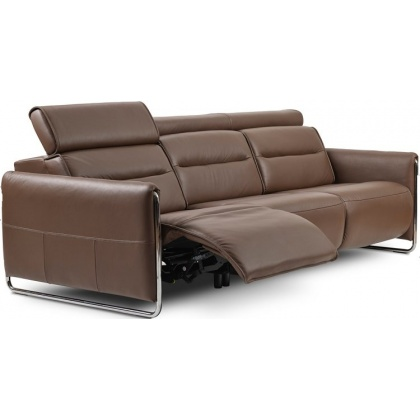 Stressless Emily Powered Left 3 Seater Sofa With Steel Legs