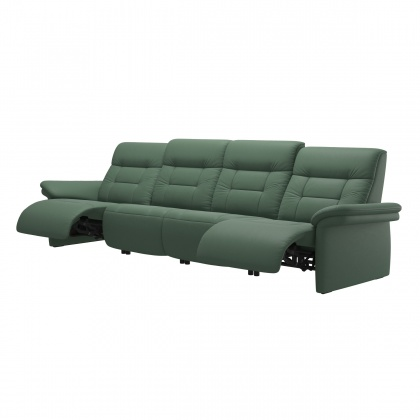 Stressless Mary 4 Seater Sofa With 2 Power Seats - Upholstered