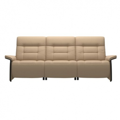 Stressless Mary 3 Seater Sofa With 2 Power Seats - Wood