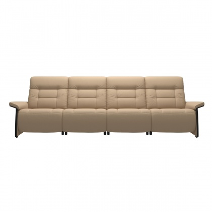 Stressless Mary 4 Seater Sofa With 2 Power Seats - Wood