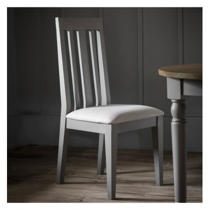 Frank Hudson Cookham Dining Chair Grey (Pair)