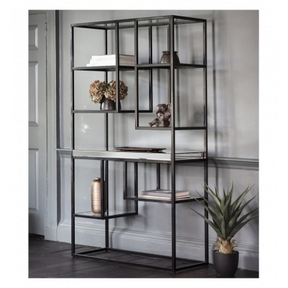 Gallery Pippard Open Display Unit Black