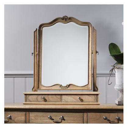 Frank Hudson Chic Dressing Table Mirror Weathered