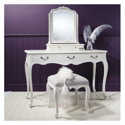 Frank Hudson Chic Dressing Table Vanilla White