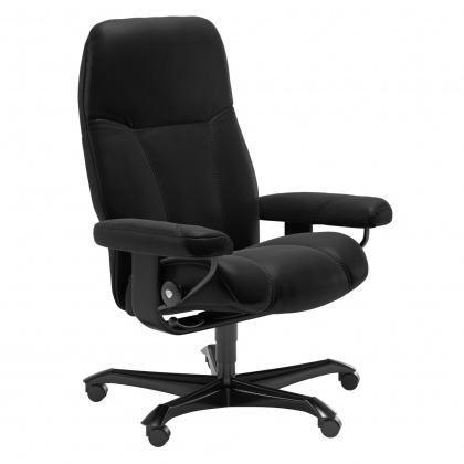 Stressless Consul Office Chair - Batick Black