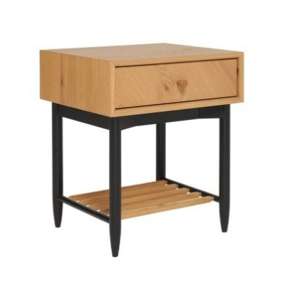 Ercol 4183 Monza 1 Drawer Bedside Cabinet