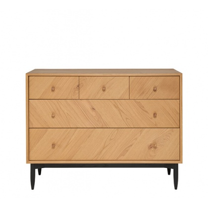 Ercol 4186 Monza 5 Drawer Wide Chest
