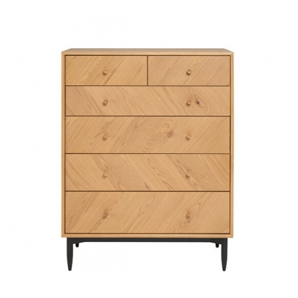 Ercol 4187 Monza 6 Drawer Tall Wide Chest