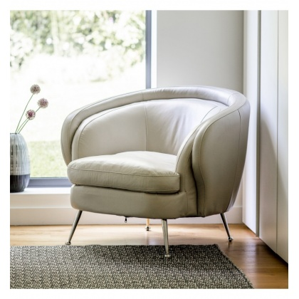 Gallery Tesoro Tub Chair Cream Leather