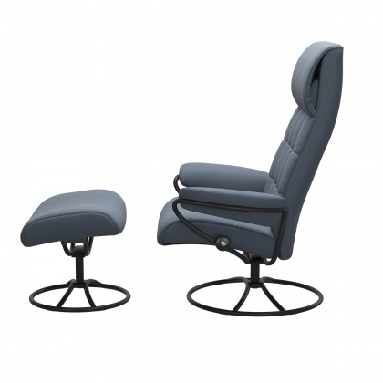 Stressless London High Back - High Base - Chair & Stool With Original Base