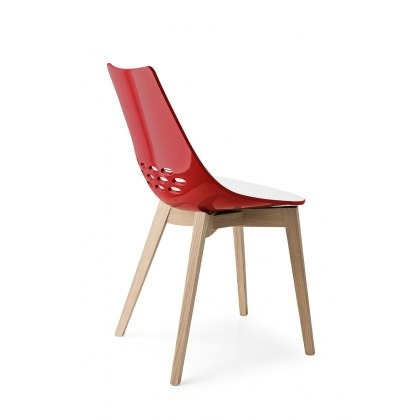 Connubia Calligaris Jam Wood Four Leg Chair (PAIR)