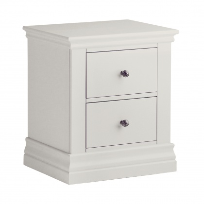 Corndell Annecy A200 2 Drawer Bedside Chest - Painted Top
