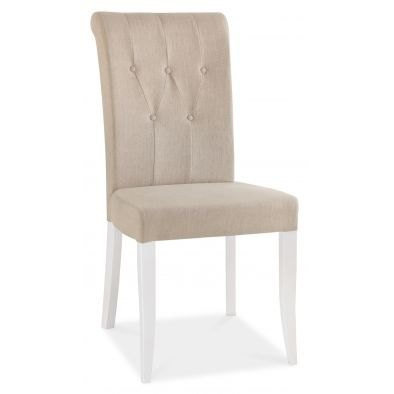 Bentley Designs Hampstead Two Tone Uph Rollback Chair - Sand Fabric (Pair)