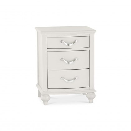 Bentley Designs Montreux Soft Grey - 3 Drawer Nightstand