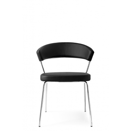 Connubia Calligaris New York Four Leg Chair Leather (PAIR)