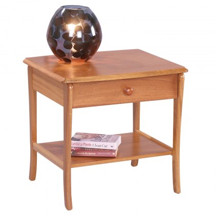 Sutcliffe Trafalgar 820 Lamp Table with Drawer and Lower Shelf
